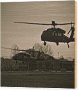 Us Army Blackhawks Wood Print