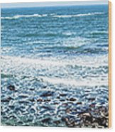 Usa California Pacific Ocean Coast Shoreline Wood Print