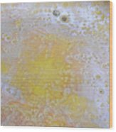 3. V2 Yellow And White Bubble Glaze Painting Wood Print