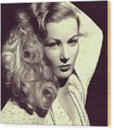 Veronica Lake, Vintage Actress Wood Print
