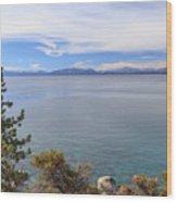 View Across Lake Tahoe Wood Print