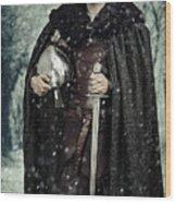 Viking Warrior With Sword Wood Print