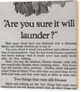 Sure It Will Launder Vintage Soap Ad  Wood Print