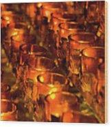 Votive Candles. Wood Print