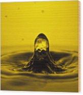 Water Droplet Jet Wood Print