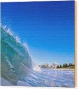 Wave Photo Wood Print