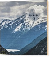 White Pass Mountains In British Columbia Wood Print
