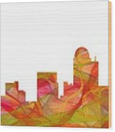 Winston-salem North Carolina Skyline Wood Print