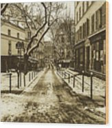 Winter In Paris Wood Print