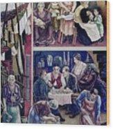Wpa Mural. Society Freed Through Wood Print