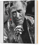Writer Charles Bukowski On Tv Show Apostrophes September 1978-2013 Wood Print