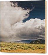 Wyoming Sky Wood Print