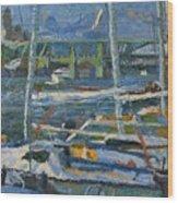 Yachts Wood Print
