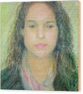 Young Woman Wood Print