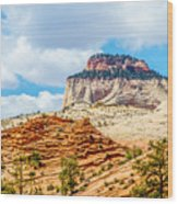 Zion Canyon National Park Utah Wood Print
