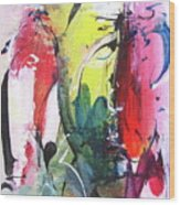 Abstract Landscape Painting Wood Print