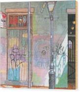 30  French Quarter Graffiti  Wood Print