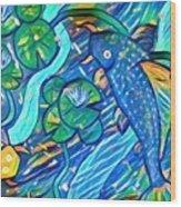 Koi Fish Wood Print