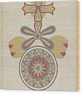 "Santa Barbara Mission Doorway Design From The Portfolio ""decorative Art Of Spanish California"" Wood Print"