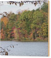 3008-fall Waterscape Wood Print