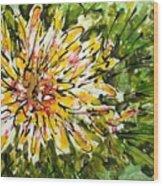 Divine Blooms Wood Print