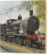 Steam Train At Rest. Wood Print