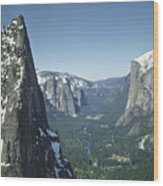 306754 Yosemite Valley From Union Point  Wood Print