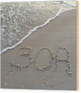 30a Beach Wood Print