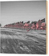 Pepperdine Flag Salute Wood Print