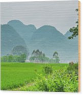 The Beautiful Karst Rural Scenery Wood Print