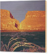 317828 Sunrise On Santa Elena Canyon  Wood Print