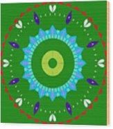 Mandala Ornament Wood Print