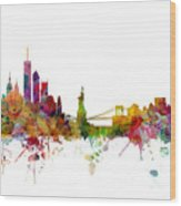 New York Skyline Wood Print