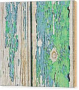 Weathered Wood Wood Print