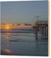 32nd Street Pier Avalon Nj - Sunrise Wood Print