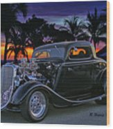 33 Ford On The Mexico Beach Wood Print