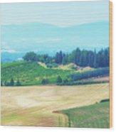 Tuscany Italy Wood Print