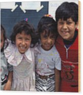 Cuidad Juarez Mexico Color From 1986-1995 Wood Print