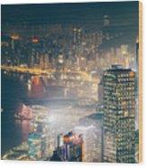 Hong Kong Victoria Harbour  Wood Print