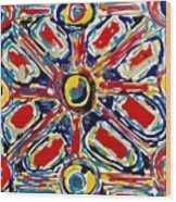 Jugglery Of Colors Wood Print