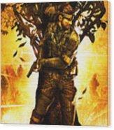 Metal Gear Wood Print