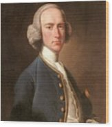 Portrait Of George Hill Sergeant At Law Henry Pickering Wood Print