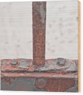 Rusty Metal Wood Print