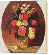 bs-flo- James Henry Wright- Flower Still Life James Henry Wright Wood Print