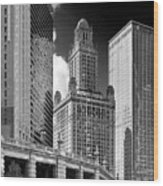 35 East Wacker Chicago - Jewelers Building Wood Print