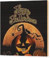 Halloween Wood Print