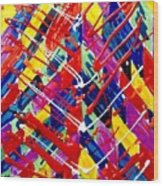 Jugglery Of Colors Wood Print