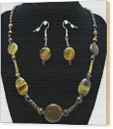 3510 Tiger Eye Set Wood Print