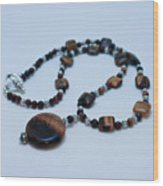 3516 Tiger Eye Necklace  Wood Print