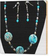 3517 Crazy Lace Agate Set Wood Print